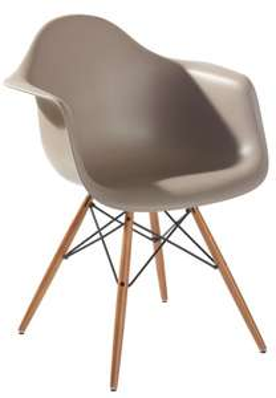 (Second Hand von www.wohn-design.com) Vitra DAW Armchair mit DSW-Gestell in mauve/grau Dining Height 43cm