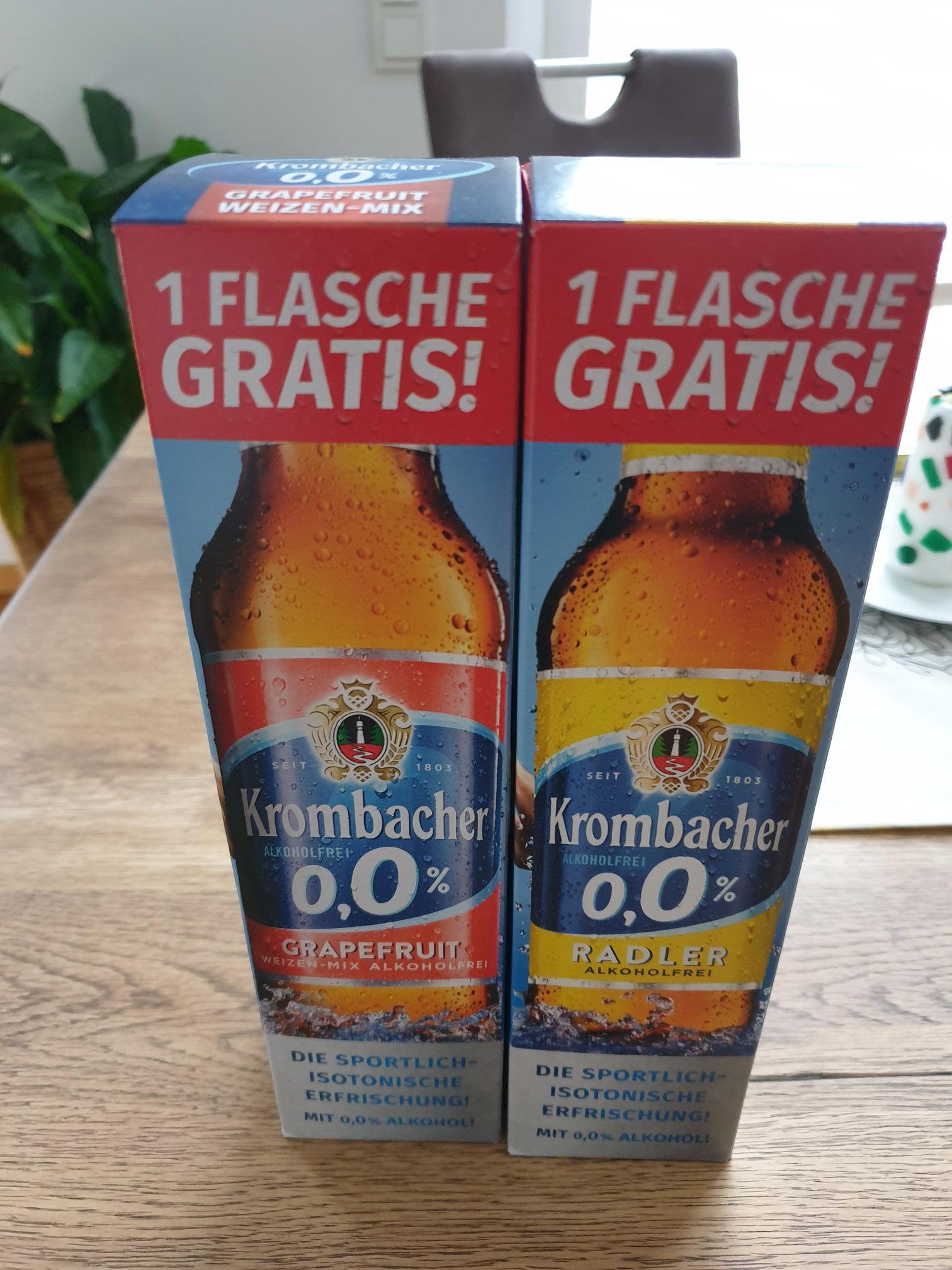 Eine Flasche Krombacher Grapefruit oder Radler gratis (Lokal Ludwigslust)