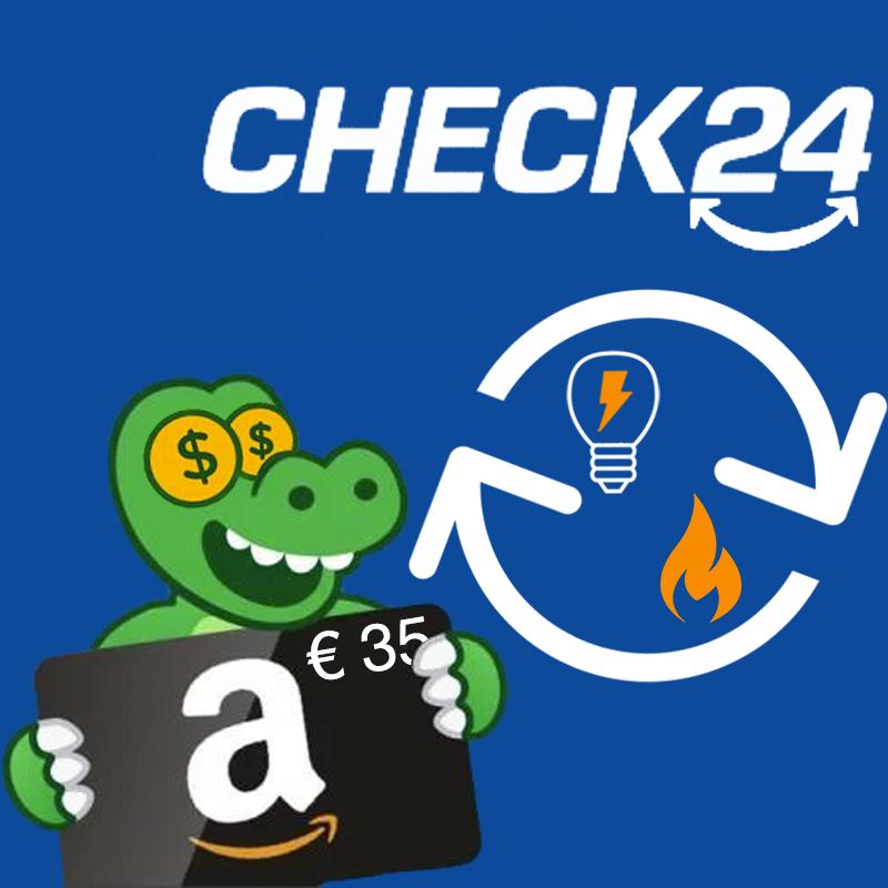 LETZTER TAG: 35€ amazon.de-Gutschein für Strom- & Gasabschluss bei Check24 über PepperBonus (auch für monatlich kündbare Verträge)