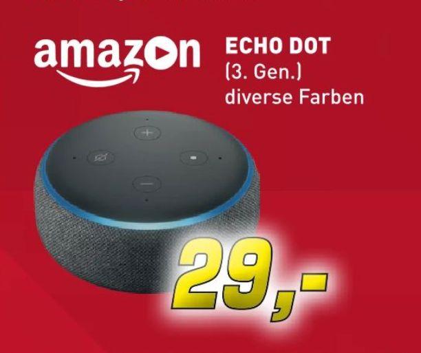 [Regional Denker in Borken] Echo Dot (3. Gen.) in verschiedenen Farben für je 29,-€