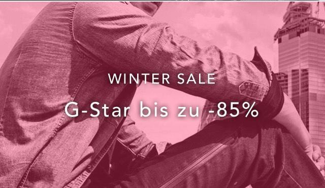 "G-Star Wintersale über MemberSite ""Best Secret"""