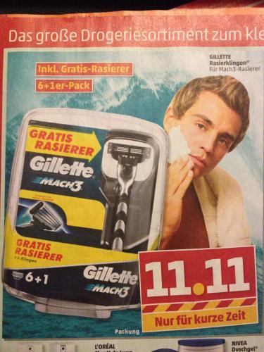"""[Bundesweit] Gillette Mach 3  - Rasierer + """"8"""" Klingen nur 11,11€ @ Penny ab 02.01.13"""