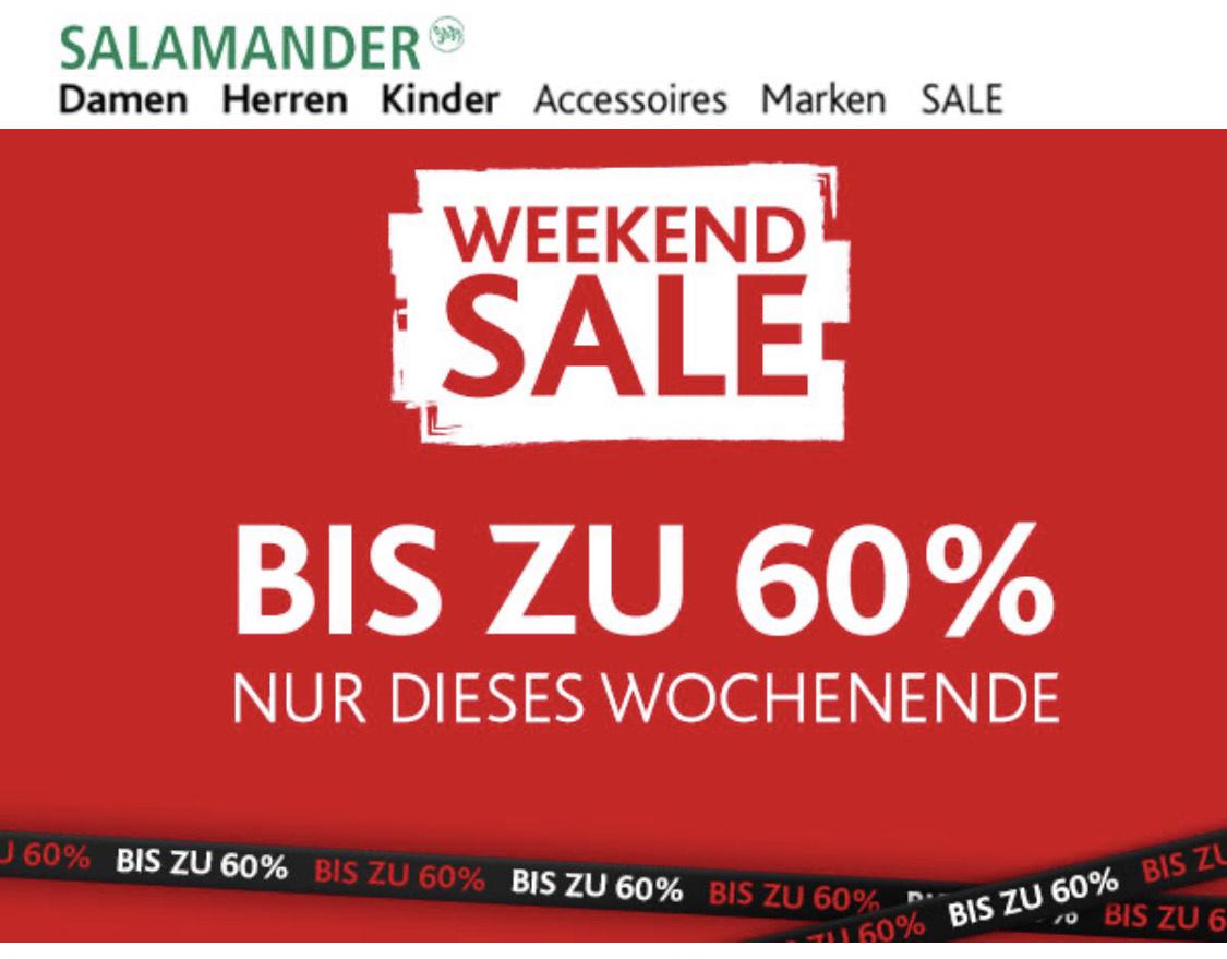 Salamander Shop - Weekend Deal - bis zu 60% Rabatt auf 2.500 Topseller und Kostenloser Versand