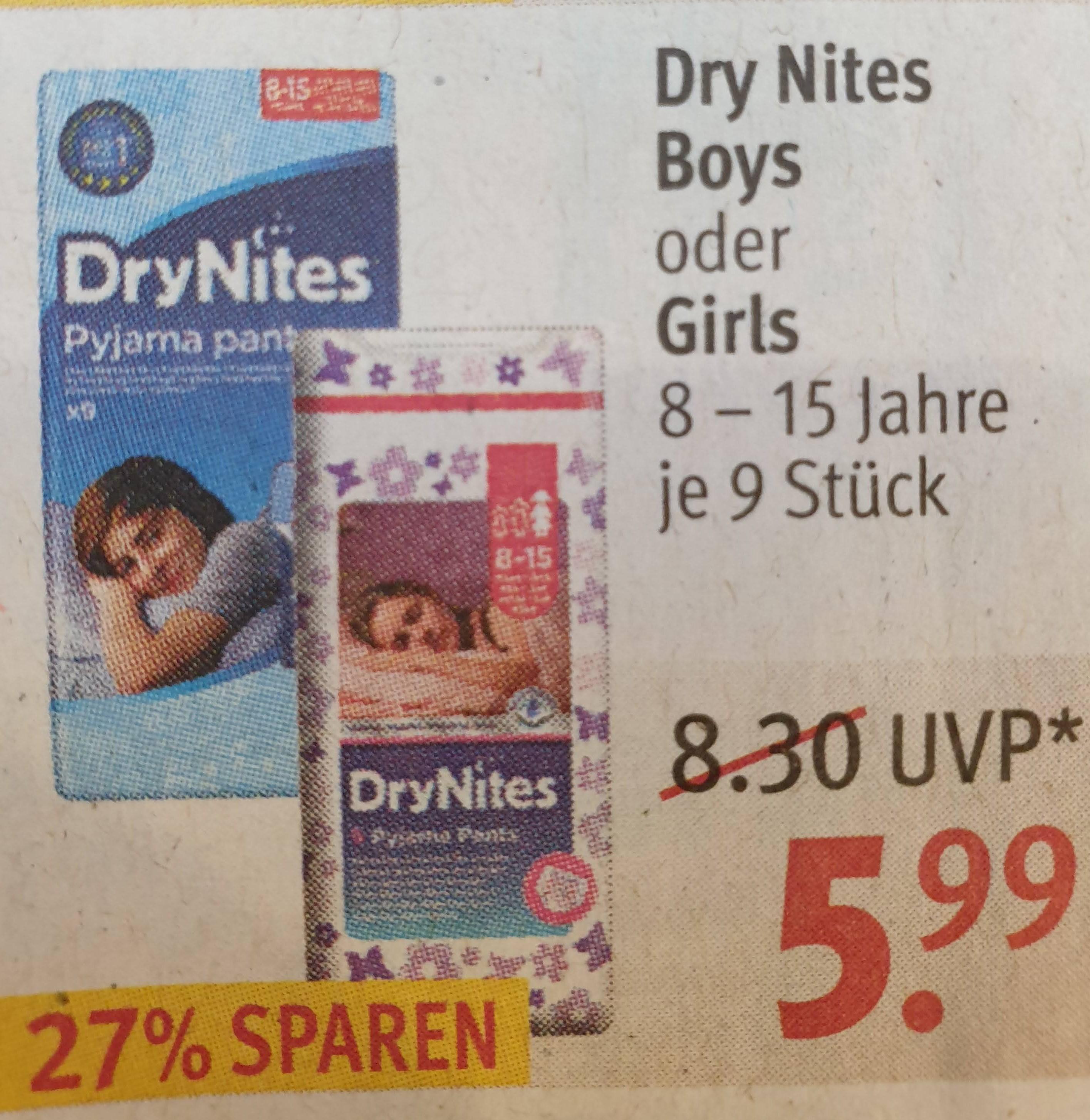 [Rossmann] DryNites Pyjama Pants für 5,99 EUR (mit Gutschein aus Rossmann-App für 2,69 EUR)