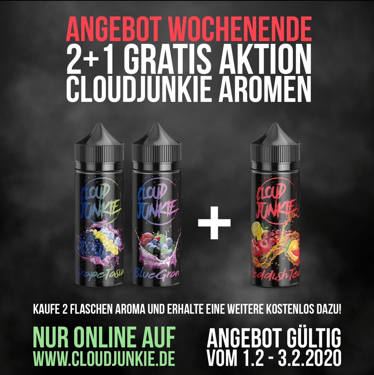 Wochenend-Angebot: Cloudjunkie Aromen: Nimm 3, bezahle 2!