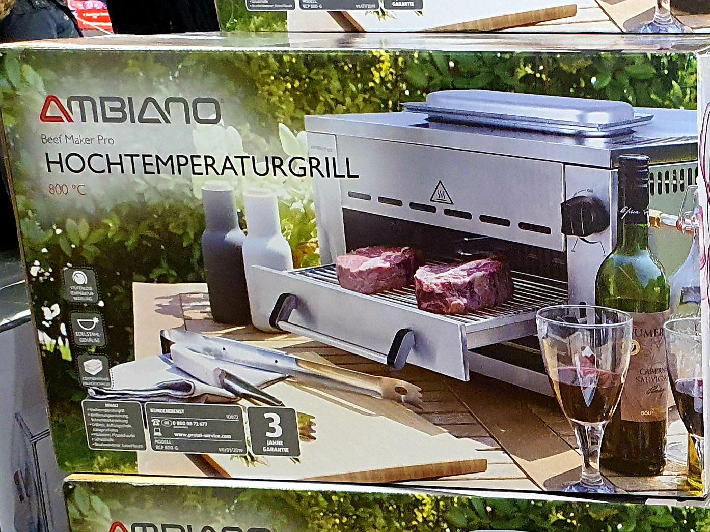 [lokal Egelsbach] AMBIANO Hochtemperaturgrill, Beef Maker Pro, Aldi Süd