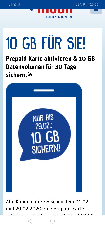 Ja!mobil 10GB Datenvolumen für Neukunden für 30 Tage geschenkt!