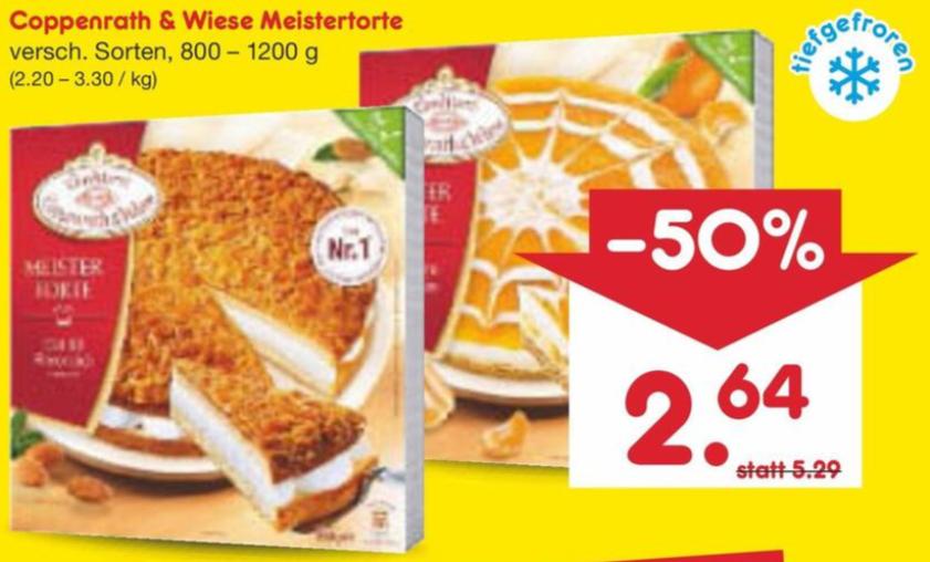 Coppenrath & Wiese - Meistertorte versch. Sorten je 800-1.200 g - z. B. Mandel-Bienenstich - Nur am 07.02.2020 zum halben Preis! *BESTPREIS*