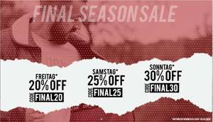 30% Off am Sonntag - Final Season Sale bei Casual Couture