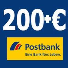 [Postbank]: kostenloses Girokonto bei mtl. Eigenüberweisung + Prämie 50/80 + 50 + 100 (+50xX) Euro