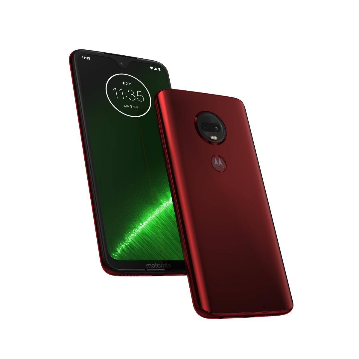 "Motorola Moto G7 Plus in rot (""viva red"") für 199 EUR inkl. Versand (Motorola-Store)"