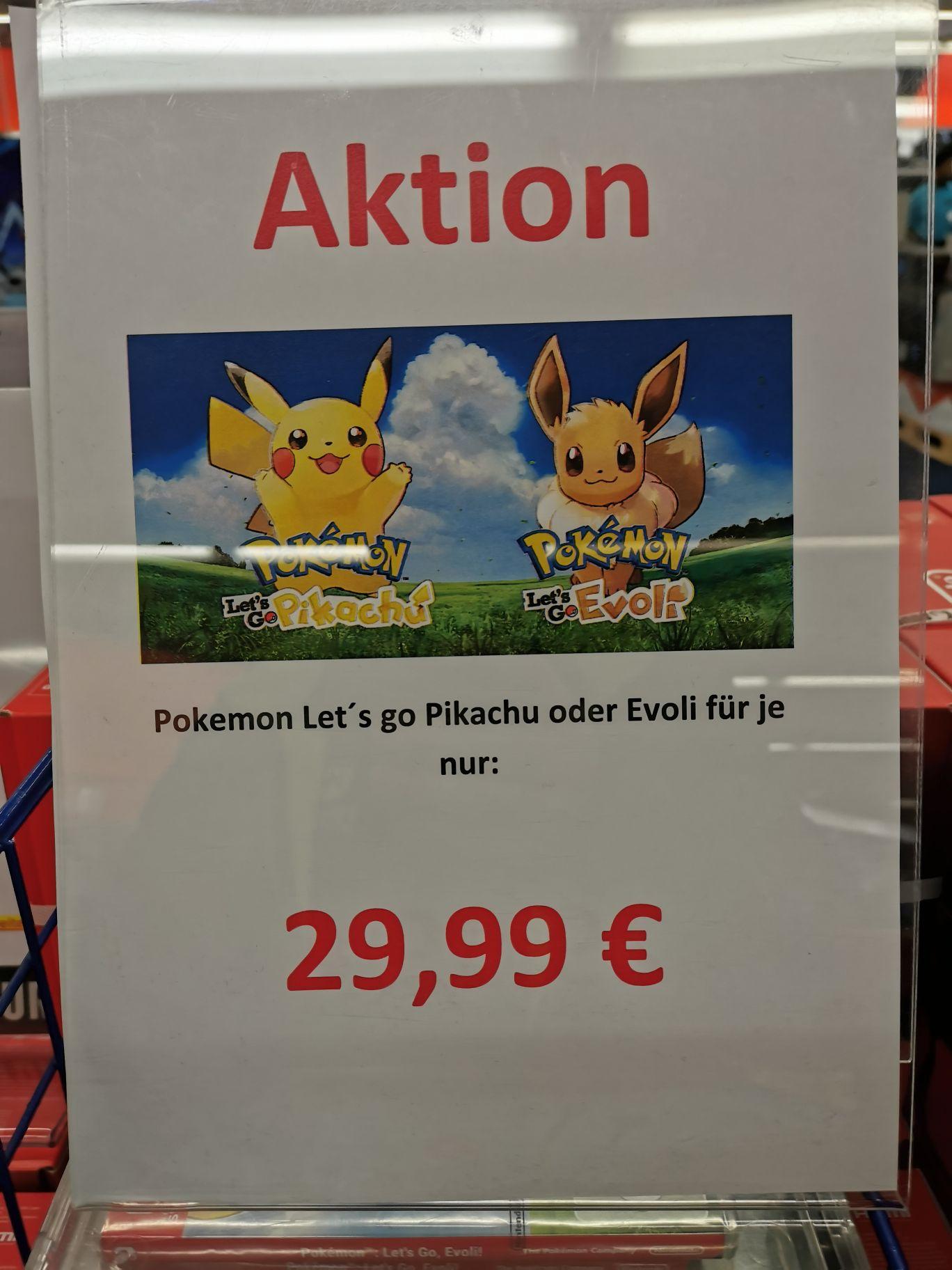 (lokal Saturn Nürnberg) Amiibos für 5€, Lego 3 für 2, Pokemon Let's Go für 29,99€
