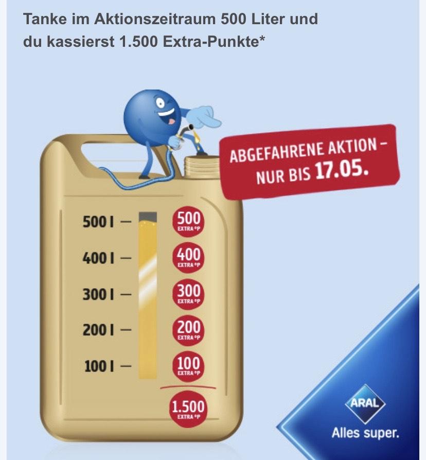 Bei Aral (Kraftstoff) tanken und bis zu 1500 extra Paybackpunkte erhalten