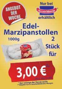 2x Edel Marzipanstollen 1000g - für 3 Euro und noch mehr Gebäck [Lokal: Kuchenmeister - Werksverkauf Soest]