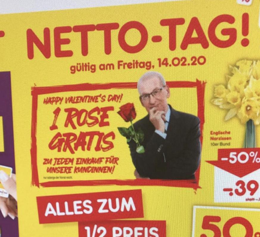 Gratis Rose für Kundinnen Netto Marken-Discount [Deutschlandweit]