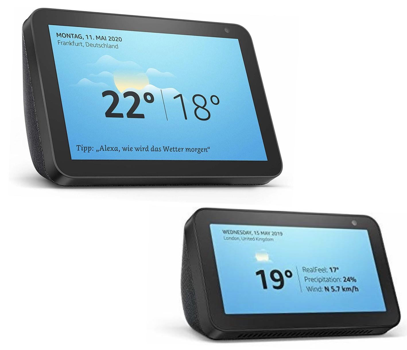 Amazon Echo Show 5 Smart Display mit Alexa für 51,30€ oder Amazon Echo Show 8 für 79,99€ inkl. Versandkosten mit Mastercard