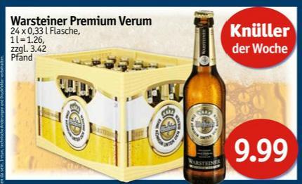 [Offline, Lokal?] Warsteiner Premium Verum, 24x 0,33L Kasten 9,99€