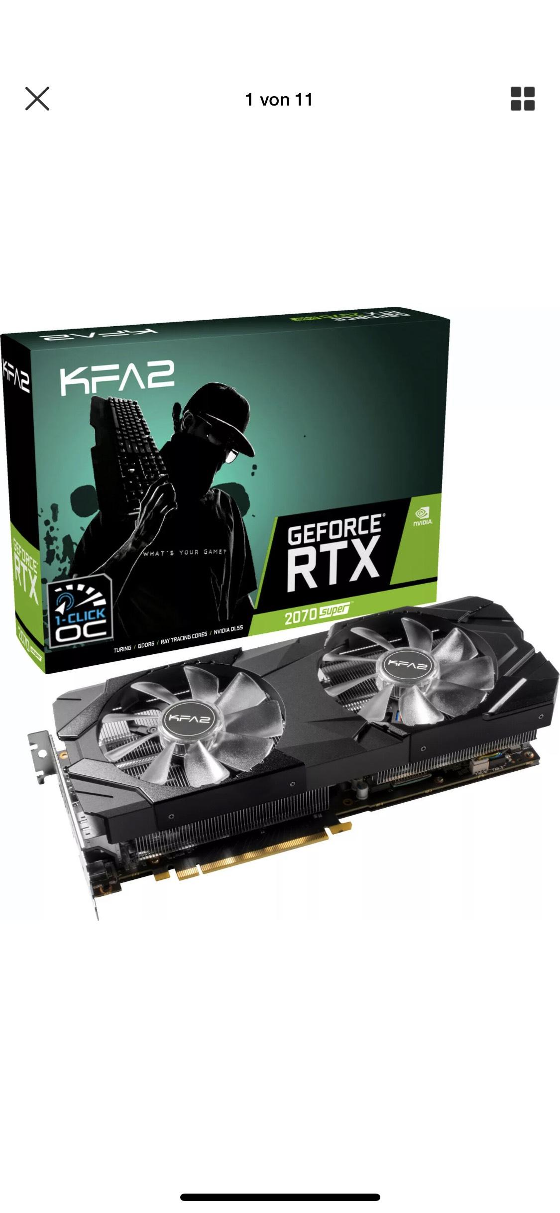 KFA2 GeForce® RTX 2070 SUPER™ EX 8GB (27ISL6MDU9EK) (NVIDIA, Grafikkarte)
