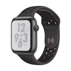 Cyberport - Apple Watch Nike+ Series 4 GPS 44mm Aluminiumgehäuse Space Grau Sportarmband Schwarz