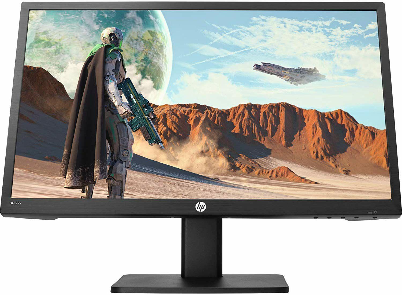 HP 22x 21,5 Zoll Full HD 144 Hz Gaming Monitor (AMD FreeSync, TN-Panel, 1 x HDMI, 1 x VGA, Reaktionszeit 1ms) schwarz