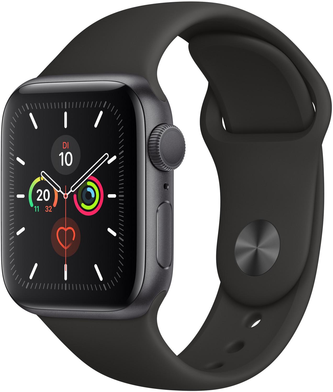 [gravis @ebay Plus] Apple Watch Series 5 (GPS + Cellular) 40mm Aluminium space grau mit Sportarmband schwarz (MWX32FD)