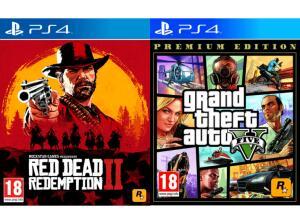(Grenzgänger Media Markt AT) Red Dead Redemption 2 + Grand Theft Auto V Premium Edition (PS4) für 30€