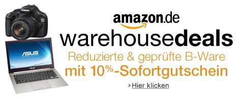 Amazon Warehousedeals - 10% Sofortgutschein AUCH AUF NOTEBOOKS !