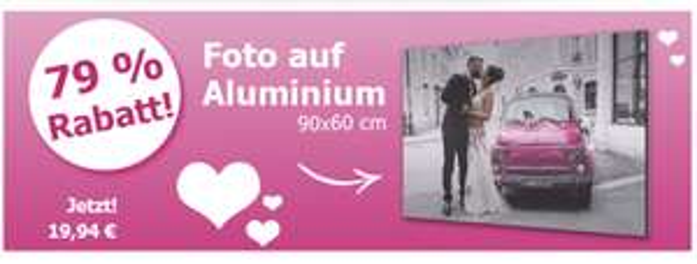XXL-Angebot, 79% Rabatt auf Foto auf Aluminium