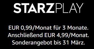 [Prime] Drei Monate STARZPLAY für 2,97€ (Amazon Video Channel)
