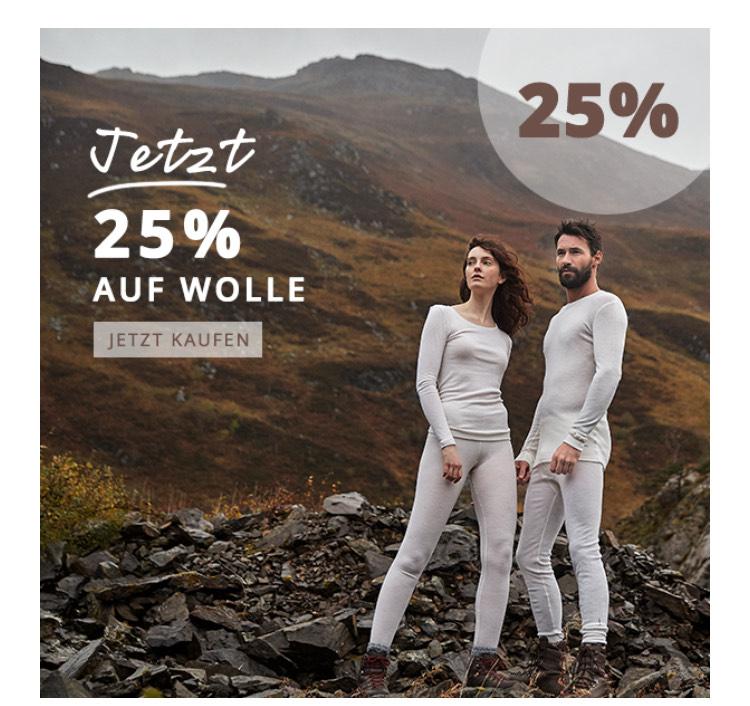 25% auf Wollkleidung bei Dilling