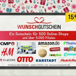 [Penny] Bis zu 400 extra Payback Punkte auf WunschGutschein Karten z.B. mit Amazon, MediaMarkt, Saturn, Ikea & Co. (8% Rabatt)