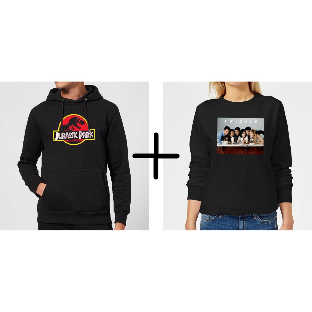 Set aus lizenzierten Hoodies und Sweatshirts für Damen und Herren für zusammen 34,49€ (Viele verschiedene Franchiches)