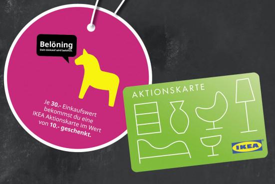 ( IKEA Würzburg ) Belöning Anhänger Produkt ab 30€ kaufen + 10€ Aktionskarte geschenkte bekommen