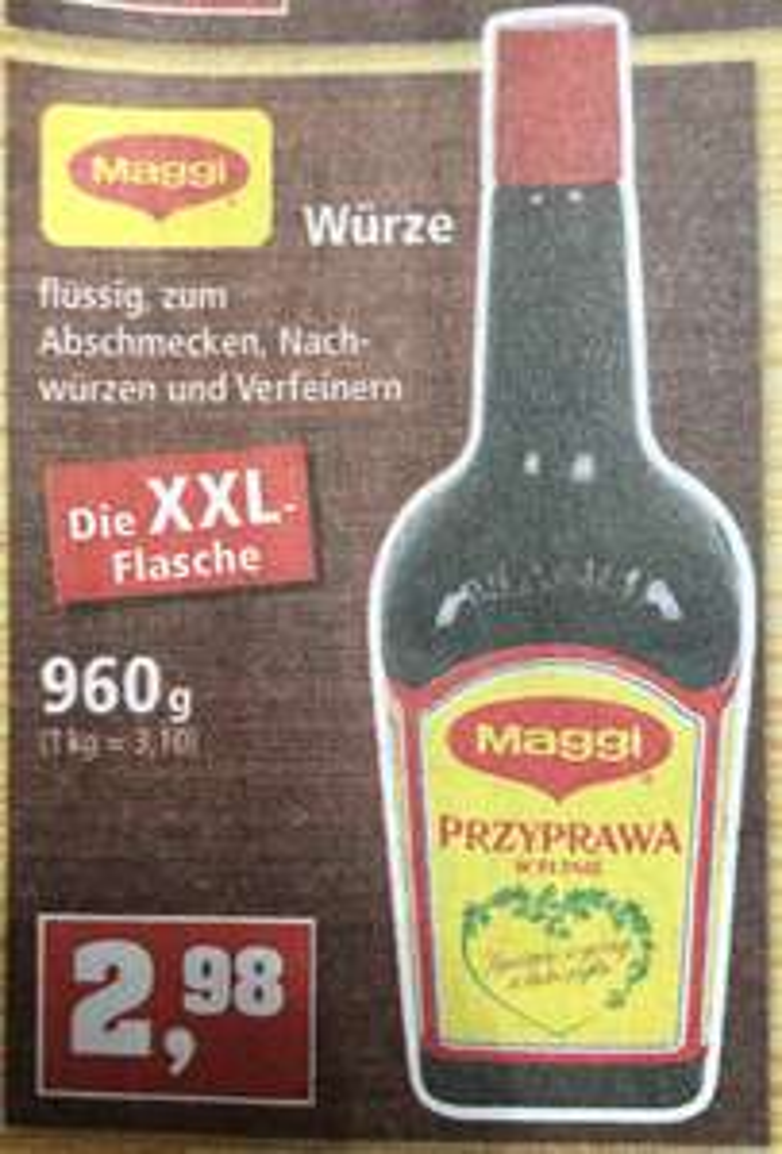 Thomas Philipps Maggi Würze XXL 960ml 2,98 [polnische Sorte]