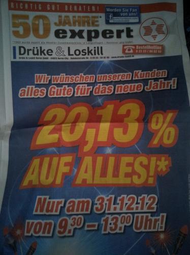 20,13% auf ALLES bei Expert in Herne (Ruhrgebiet)