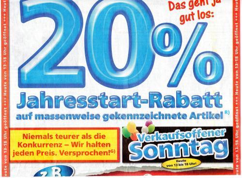 [ LOKAL ?? Tootal Markt Delmenhorst ] Verkaufsoffener Sonntag 20 % Rabatt auf gekennzeichnete Geräte !