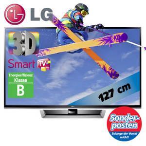 "LG 50""-3D-Plasma-TV 50PM470S 127 cm mit Triple-Tuner, Smart TV / Energieklasse B ab 07.01.2012 bei Real für 429"