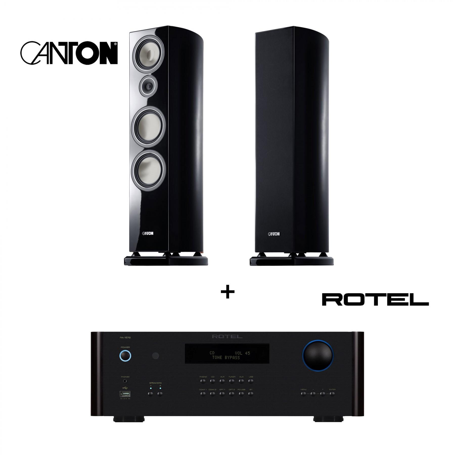 Stereo-Paket: Vollverstärker Rotel RA-1572 + ein Paar Standlautsprecher Canton Vento 896.2 DC