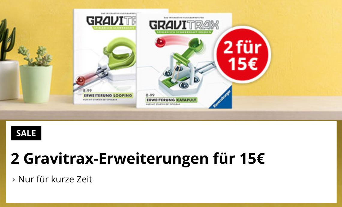 2 Gravitrax Erweiterungen für 15€ + 1€ Füllartikel - Erweiterungssets für die Kugelbahn für Kinder