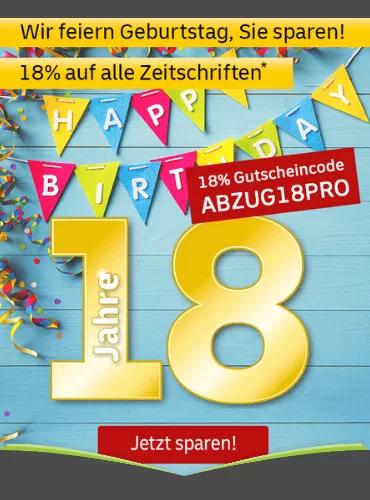 [Leserservice] 18% Rabatt auf alle Zeitschriftenabos | Brigitte, Hörzu, TV Digital, Bike, c't, ix, technology review, der Spiegel