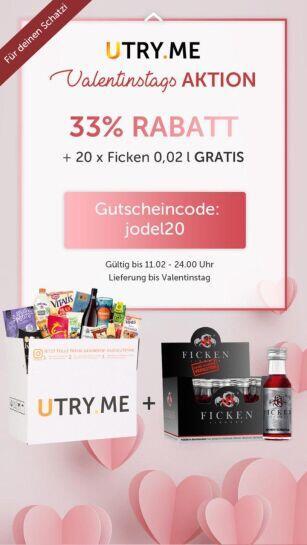 uTry.me 33 % + 20 kleine Ficken Schnäpse