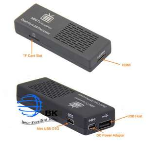 MK808 Dual Core Android 4.1 Jelly Bean TV BOX RK3066 Cortex-A9 Mini PC stick für 37,82€