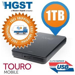 HGST Touro Mobile USB 3.0 Stromversorgung Laufwerk mit 1 TB