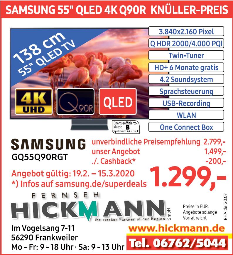 Samsung GQ55Q90RGT [Lokal Frankweiler] Hickmann [ 200€ Cashback Samsung Superdeal]