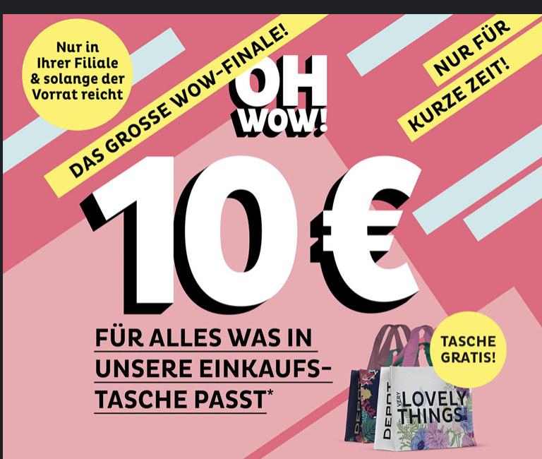 [Nachlieferungen möglich]Depot (DE/AT), alles was in die Tasche passt für 10€