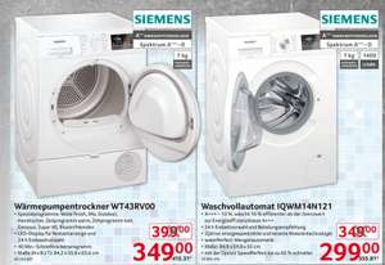 Siemens Waschmaschine IQWM14N121 [Selgros]