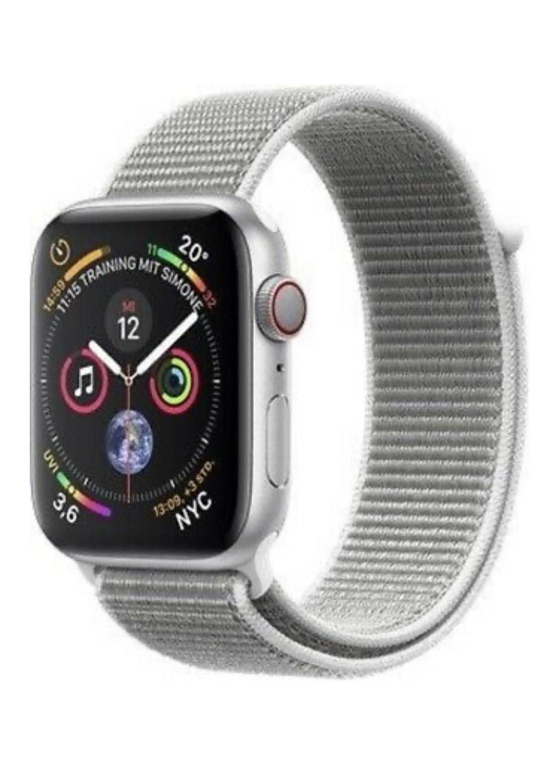 Ebay - Apple Watch 4 LTE 44mm Alu silber Loop sea - DEUTSCHER HÄNDLER - MIT MWST!