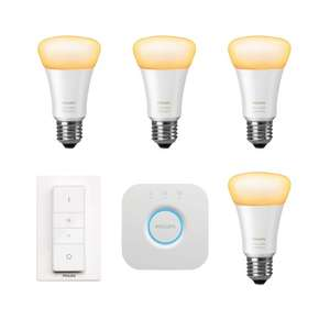 [tink Smart Week] Philips Hue Sammeldeal: z.B. Philips Hue White Ambiance E27 Bluetooth Starter Kit + zusätzliche Lampe für 99,95€