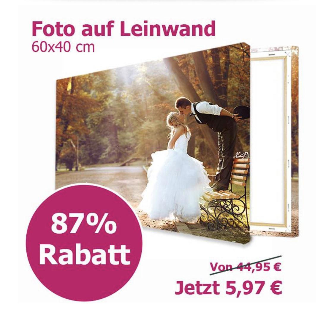 Lieblingsfoto.de Leinwand 60x40 cm für 12,92€