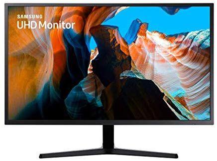 Samsung U32J592UQU (32 Zoll) Monitor (HDMI, 4ms (G/G), UHD, DP, 3,5 mm Kopfhörer, 3,840 x 2,160 Pixel 270 cd/m²) dunkelblaugrau [Amazon]